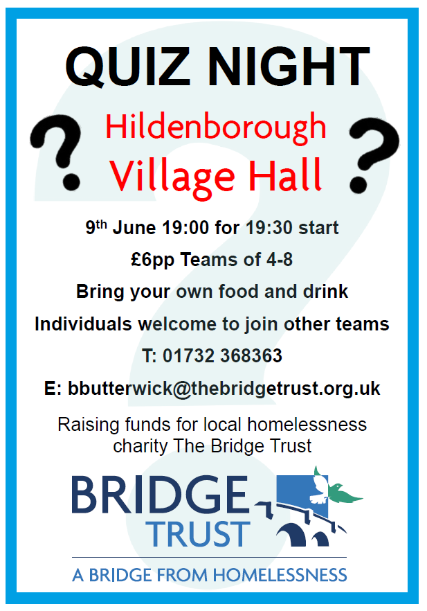 Quiz Night at Hildenborough Village Hall - COMPLETED